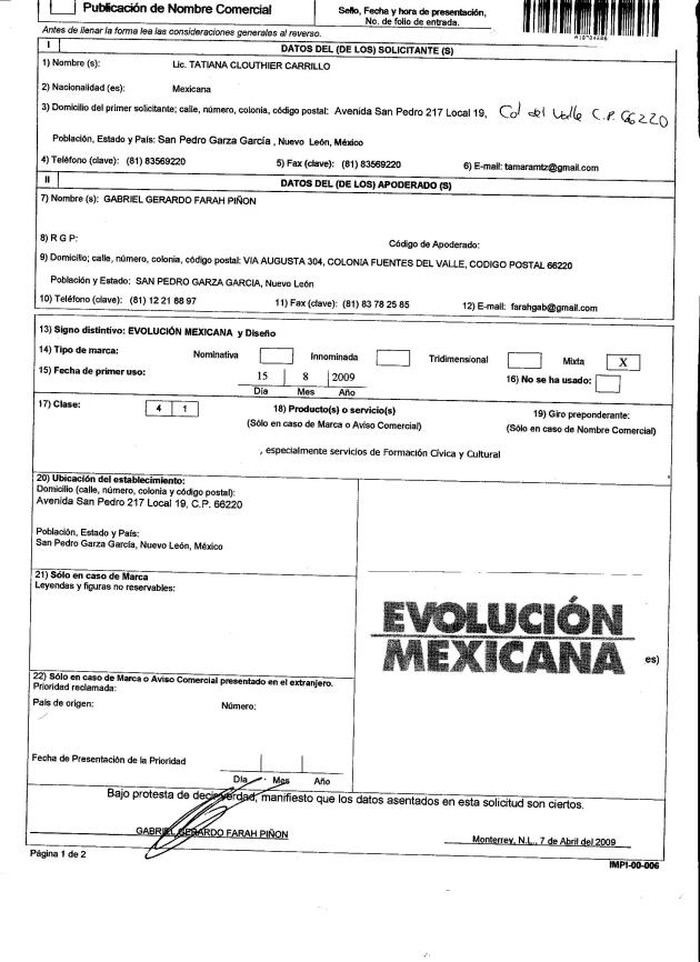 Registro de Evolucion Mexicana